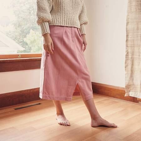 Story Mfg Jeannie Organic Denim Skirt - Sappy Pink