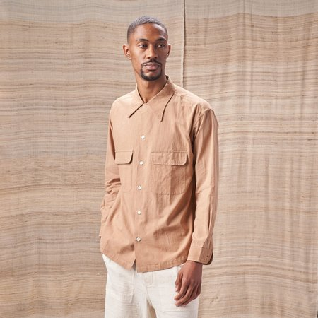 Story Mfg Snack Organic Cotton Shirt - Bark Brown