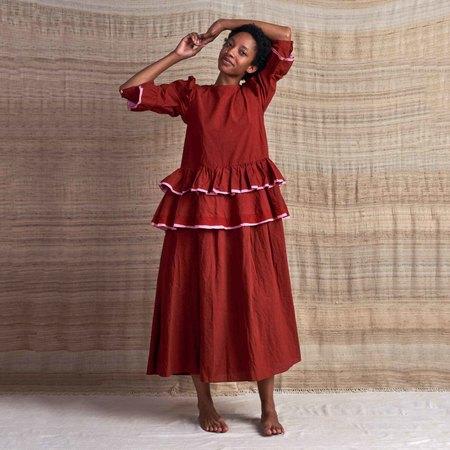 Story Mfg Tulsi Organic Cotton Dress - Rose Madder