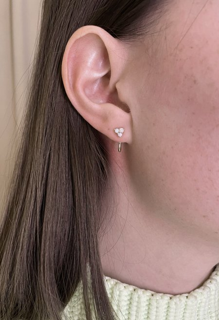 Nicole Kwon Concept Store Solid 14K Gold Opal Drop Earring