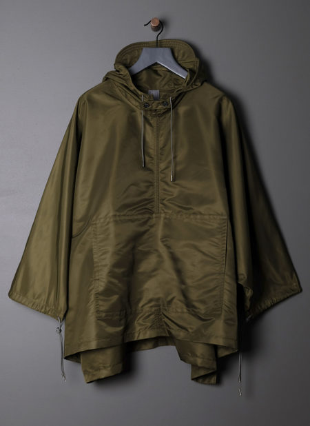 GREI. HOODED PONCHO - ARMY GREEN