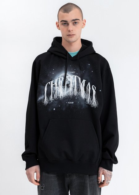 Doublet Not Christmas Embroidery Hoodie - Black