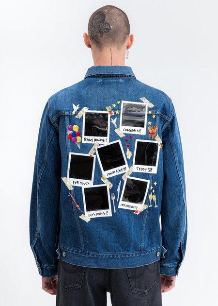 Doublet Memorial Polaroid Denim Jacket - Indigo
