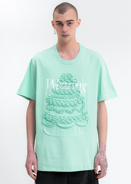 Doublet Cake Embroidery T-Shirt - Mint