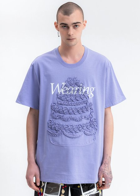 Doublet Cake Embroidery T-Shirt - purple