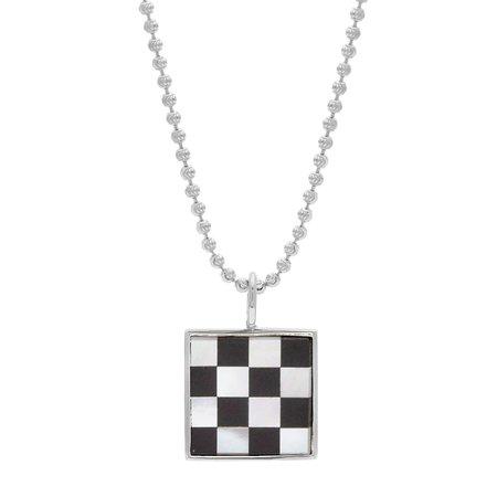 Tarin Thomas Samuel Checkered Necklace