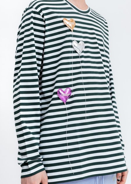 Doublet Happy Balloons Long Sleeve T-Shirt - White/Green