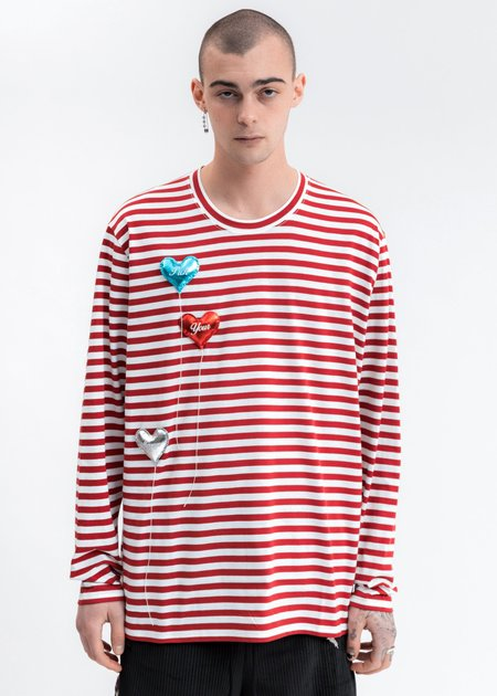 Doublet Happy Balloons Long Sleeve T-Shirt - White/Red