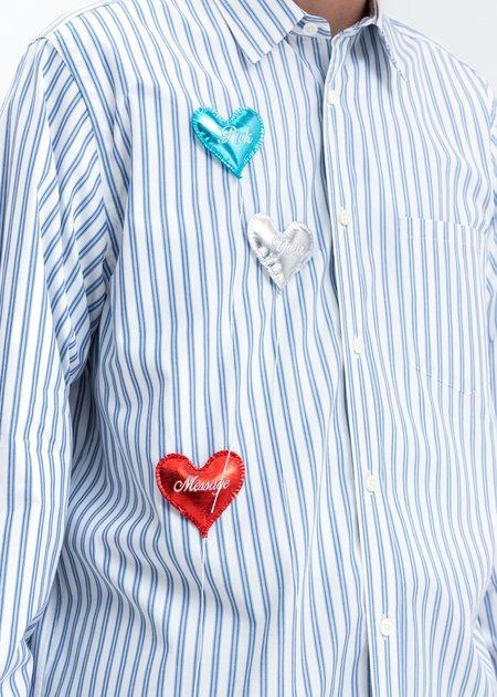 Doublet Happy Balloons Stripe Shirt - White