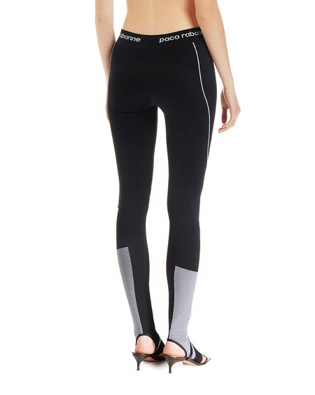 Paco Rabanne Leggings with Panels - Black