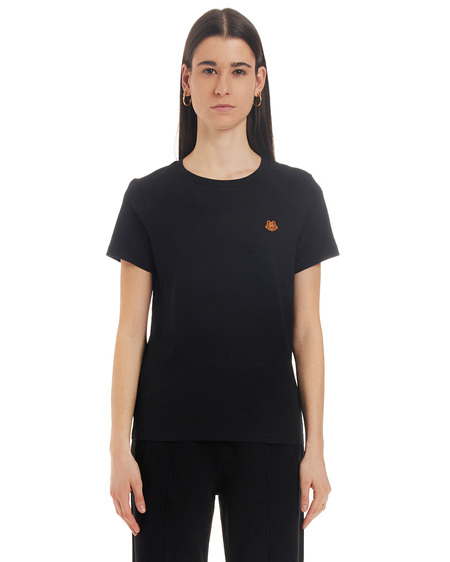 Kenzo T-shirt with Tiger Application - Black