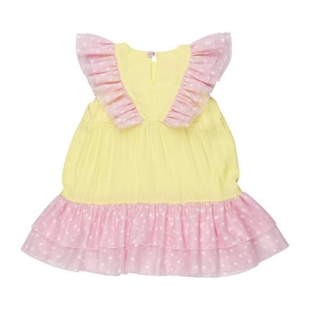 Kids Wauw Capow By Bangbang Copenhagen Oline Dress - Yellow/Pink