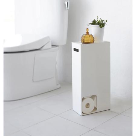 Yamazaki Plate Toilet Paper Stand - white