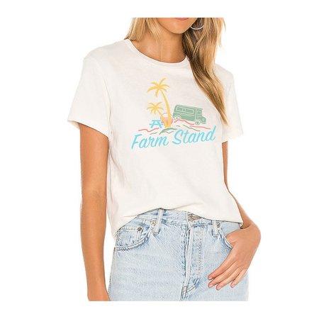 Farm Stand x Geige Silver Logo Tee Shirt - White