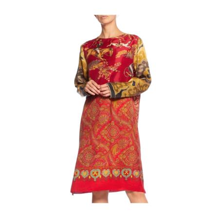 Vintage Morphew Silk Equestrian Tunic Dress