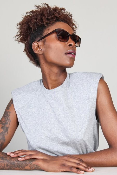 Kate Young for Tura Leila Sunglasses - Brown