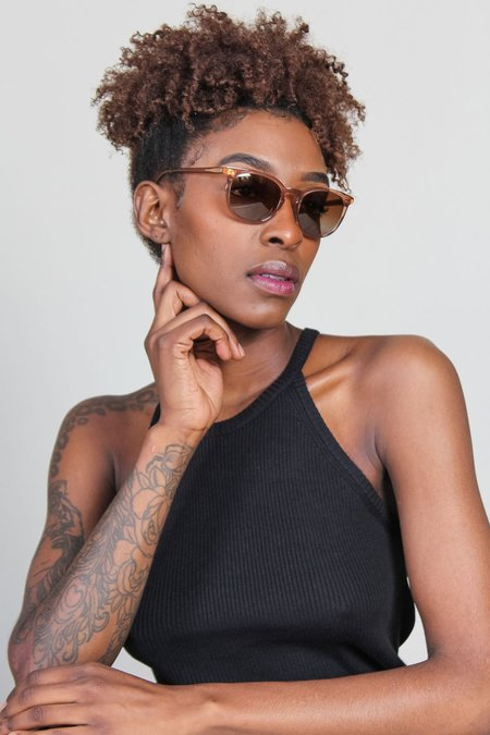 Kate Young for Tura Nadia Polarized Sunglasses - Brown