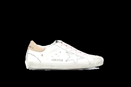 Golden Goose Superstar Dotted Star Sneaker - White/Tan