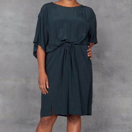 Humanoid Dark Teal Silk Dress