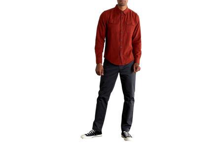 Bridge & Burn Bedford Shirt - Crimson Herringbone
