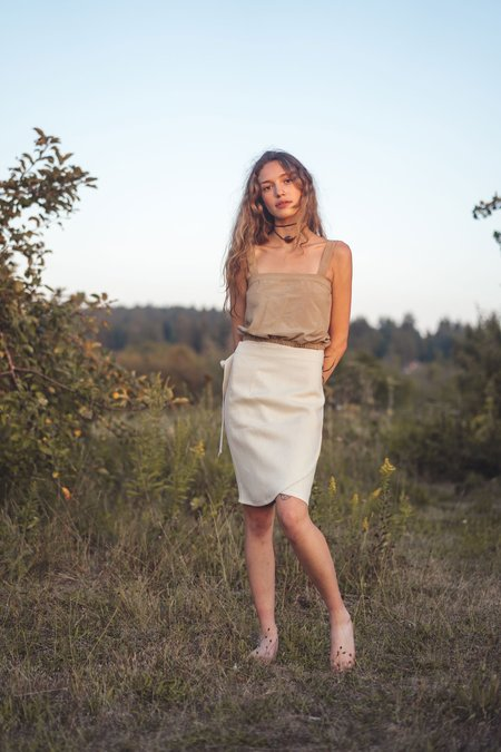 Arraei Collective Wade Wrap Skirt - Ivory