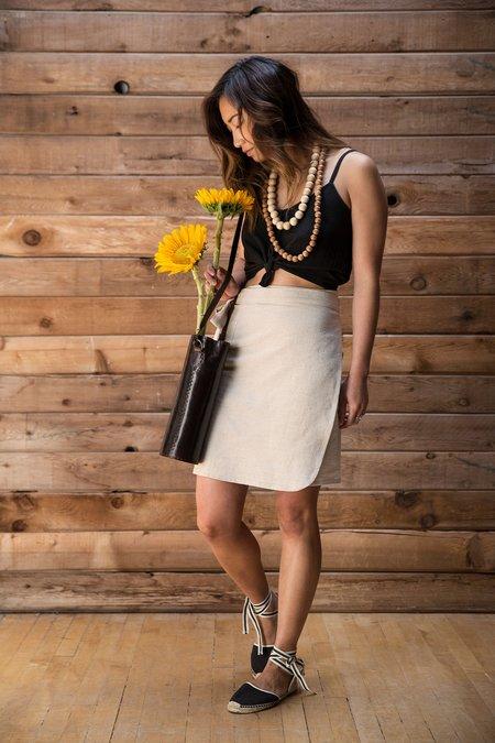 Arraei Collective Wae Wrap Skirt - Stone