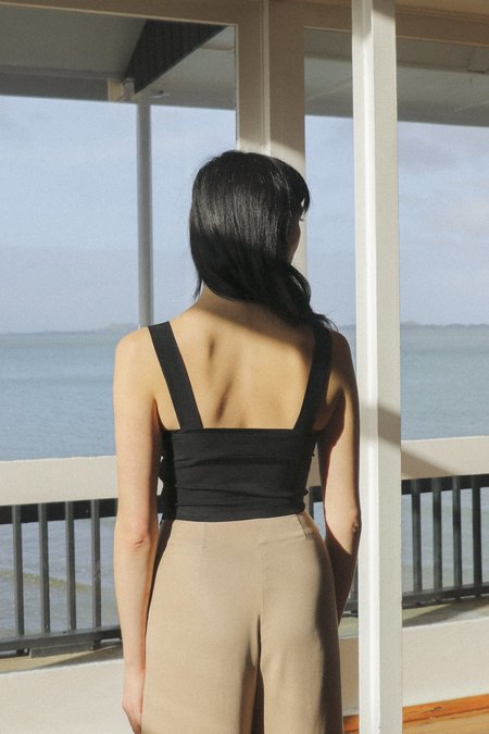 OVNA OVICH Gala Bralette top - Midnight Black Cupro