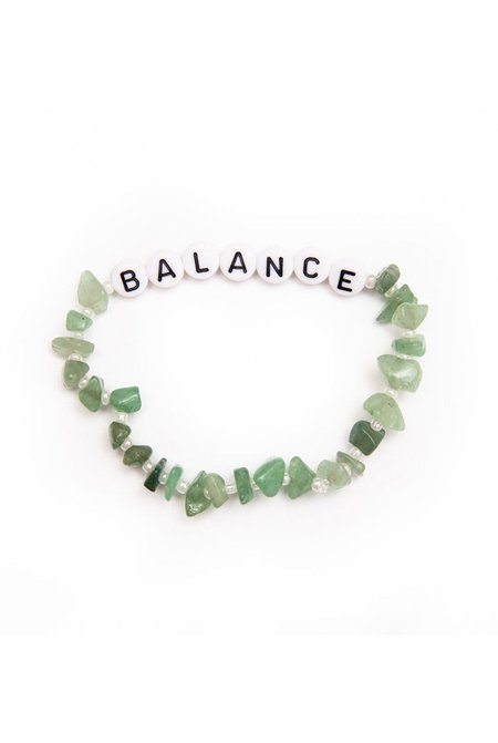 TBalance Balance Aventurine Crystal Healing Bracelet - Green