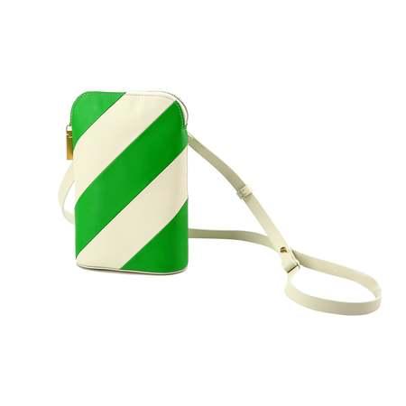 MATTER MATTERS Mini Hama shoulder bag - Beige/Kelly Green