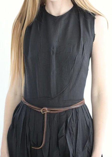 Hazel Brown Riding Dress - black