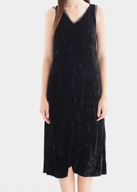 Hazel Brown Velvet Dress - black