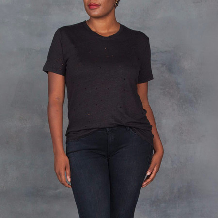 IRO Clay Short Sleeve Tee in Black