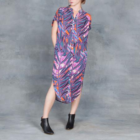 Mara Hoffman Herbarium Button Shirt Dress