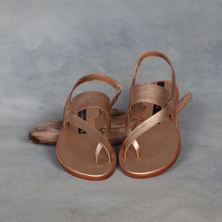 Matt Bernson Athena Sandal in Rose Gold