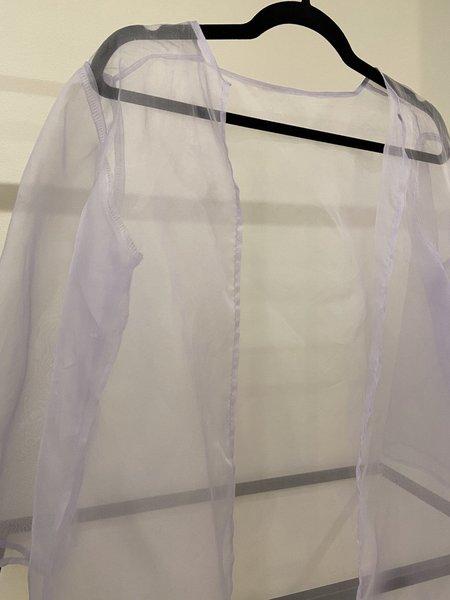Boneset Silk Robe - white
