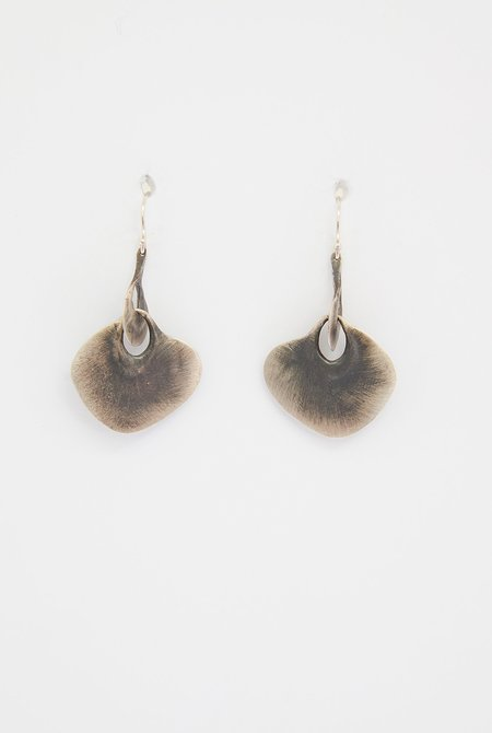 TEN THOUSAND THINGS Large Peacock Link Earrings - Sterling Silver