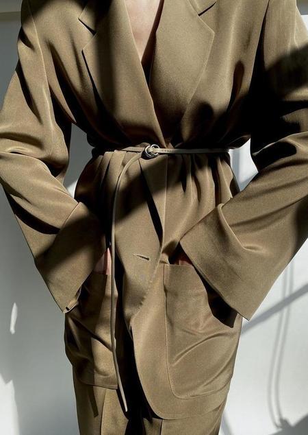 Modern Weaving Contour O-Ring Belt - Cremini