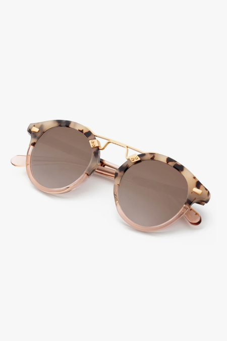 Krewe STL II Sunglasses - Oyster/Petal 24K Mirrored