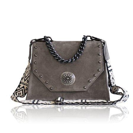 Bonendis Chiara Suede Bag - Grey