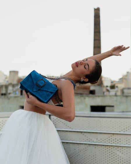 Bonendis Kyra Suede Bag - Blue