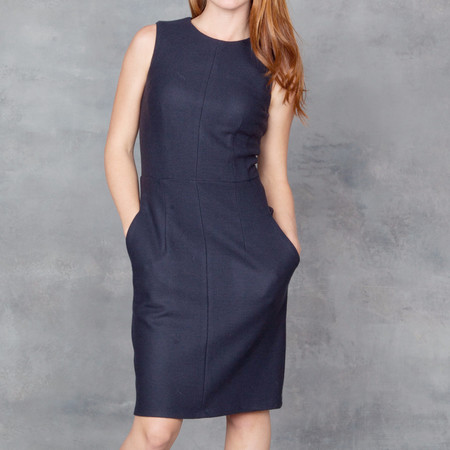 Obakki Tailored Dress in Indigo