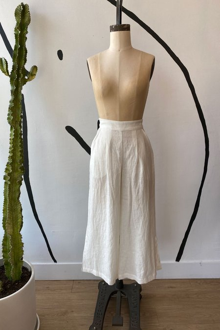Whimsy + Row Sample Sale Valentina Pant - White