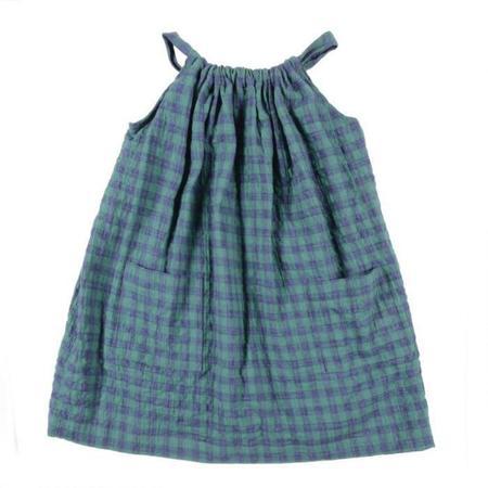 Kids Makie Faith Dress - Green Checks
