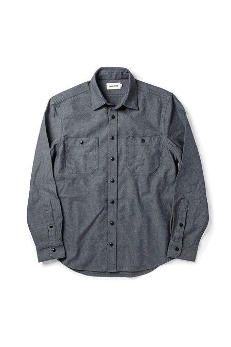 TAYLOR STITCH Indigo Crosshatch Utility Shirt