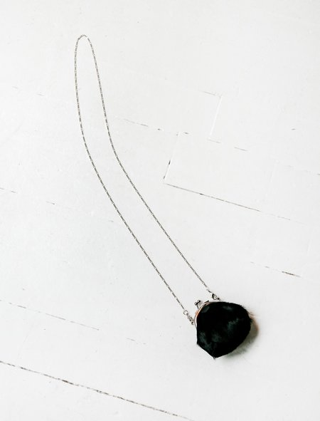 Y's by Yohji Yamamoto Mini Clasp Purse Hairy Necklace - Leather