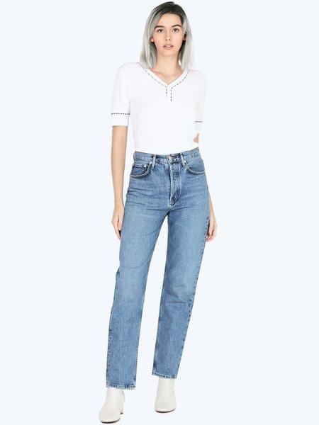AGOLDE 90s Pinch Waist High Rise Straight Jean - Navigate