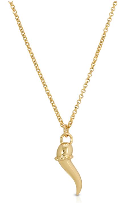 LADYBIRD Italian Horn Necklace - Gold