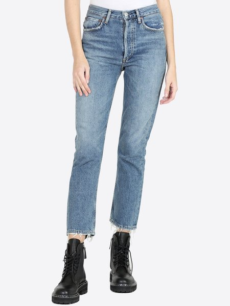 AGOLDE Riley Hi Rise Straight Jean - Frequency
