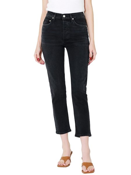 AGOLDE Riley High Rise Jeans - Black Pepper