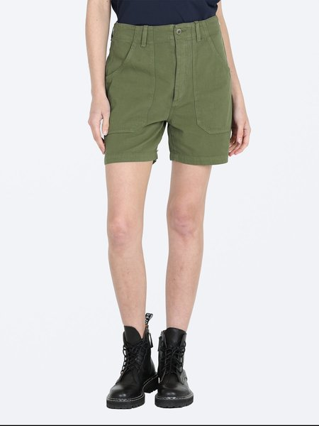 Citizens of Humanity Madeline Relaxed Patched Pocket Short - Cactus